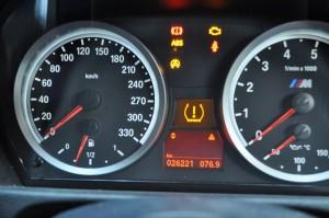 BMW E80 DSCユニット故障時のランプ点灯の様子2