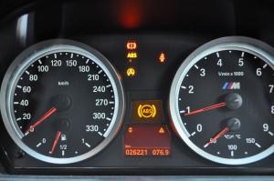 BMW E80 DSCユニット故障時のランプ点灯の様子1