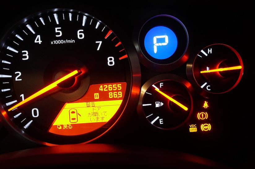 R35 GTR ABS警告ランプ