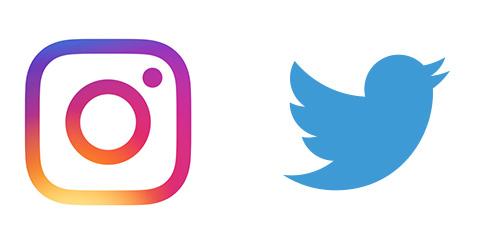 instagramとtwitterはじめました。