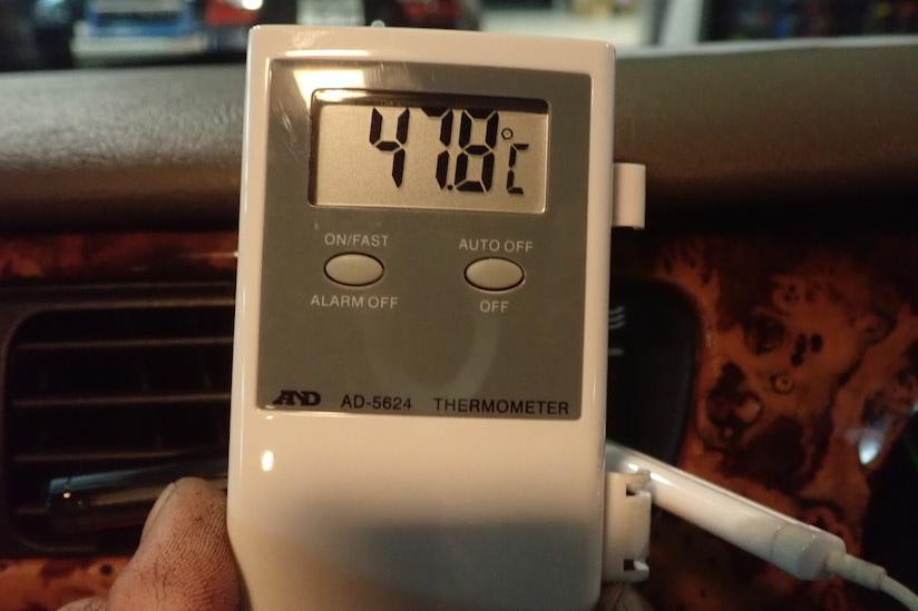 エアコン吹き出し温度