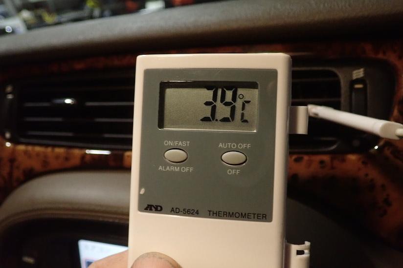 ジャガーエアコン温度