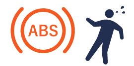 ABS警告灯(ランプ)の点灯